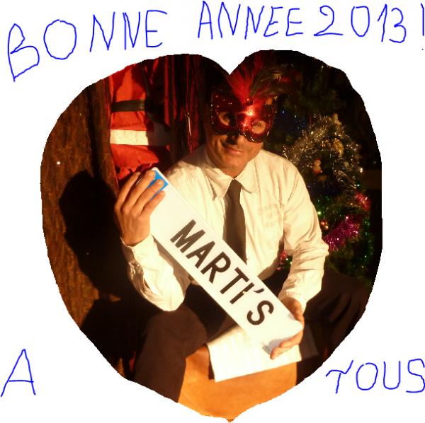 BONNE ANNÉE 2013 A VOUS TOUS