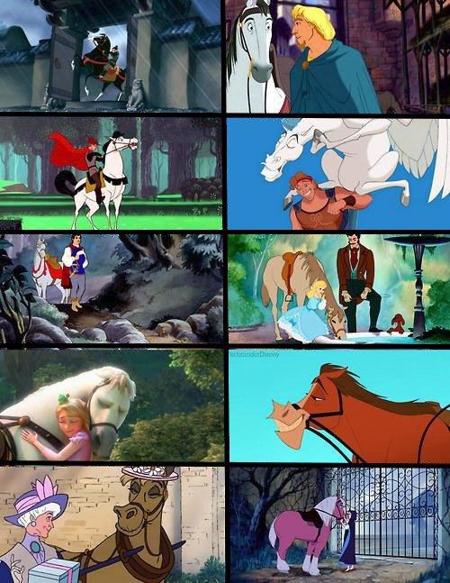 Les chevaux chez les Disney !