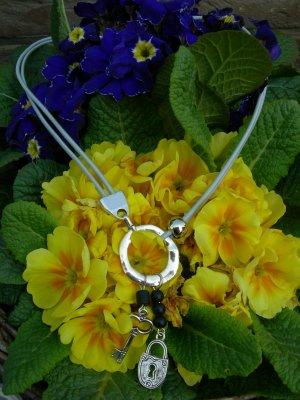 collier clé & cadenas