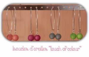 "Boucles d'oreilles ""touch of colour"" - 5"