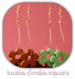 """Boucles d'oreilles """"Capucine"""" - 5"""
