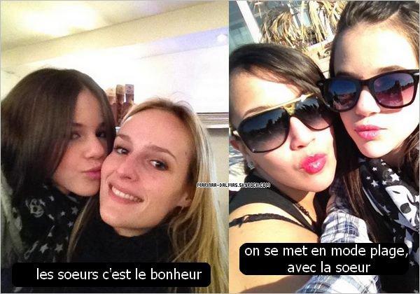 Marina poste des photos d'elle et de sa soeur.