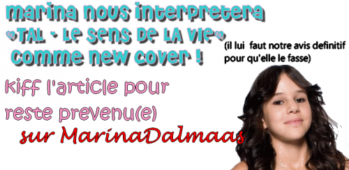 12/05/12 : Marina a son idée de cover.