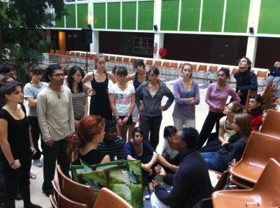 Répétition à l'Atrium du Conseil général pour la Journée départementale du Handicap - 8 & 9 octobre 2010