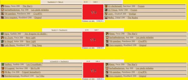 Combats  Goulta : Phase de sélection
