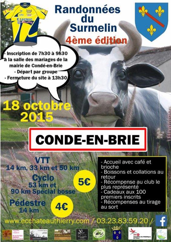 Randonnées du Surmelin  CONDE EN BRIE  Dimanche 18 octobre 2015