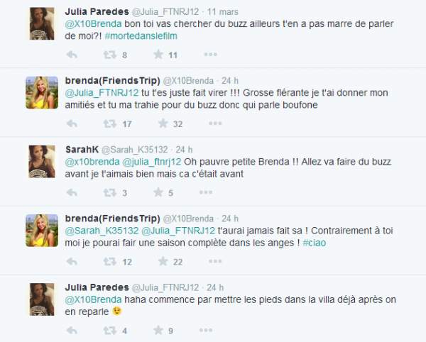 Friends Trip : Clash entre Brenda et Julia !