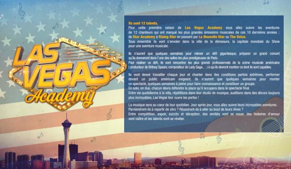 Las Vegas Academy : L'émission sera diffusé le 18 mai ! Découvrez le concept et les coaches ! (cliquez sur les images pour mieux voir)