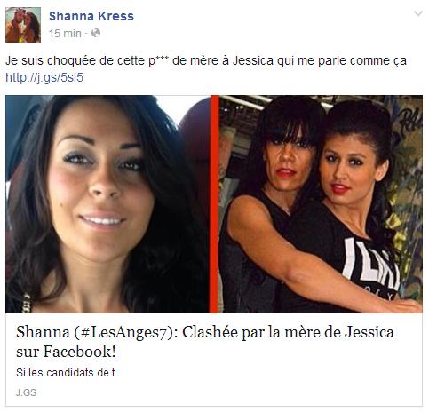 Les Anges 7 : Shanna insulte la mère de Jessica  !