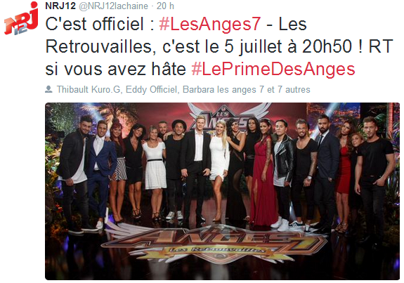 Les Anges 7 : La date officielle de la diffusion du prime des anges !
