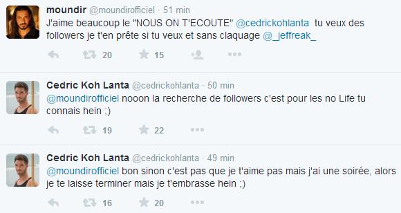 Koh-Lanta : Clash entre Cédric et Moundir !