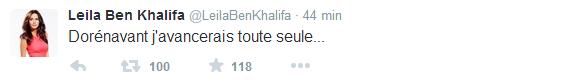 Leila : Une rupture avec Aymeric ? En plus d'avoir changer sa photo de couverture, elle poste un mystérieux tweet !