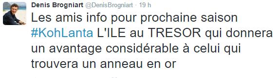 Koh Lanta : Denis Brognard révèle une toute première information sur la prochaine saison !
