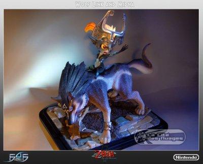 figurine f4f link loup et midona