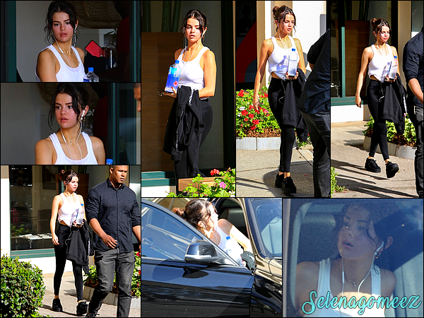 03 Novembre 2017 : Selena a été vue quittant son cours de Pilates dans West Hollywood.