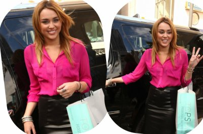 Miley chez Topshop Chicago Inauguration!