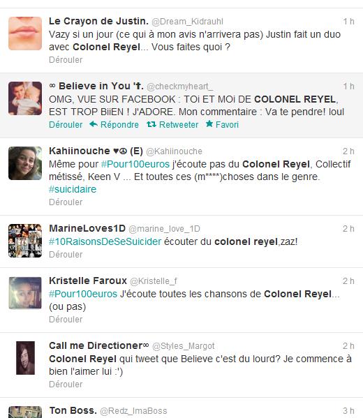 Résultats des tweets pour Colonel Reyel