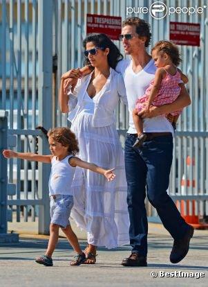 Matthew McConaughey : Journée détente à New York et en famille