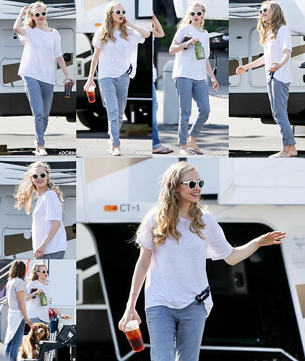 8 Septembre 2014 :  Amanda était sur le tournage du film : Ted 2
