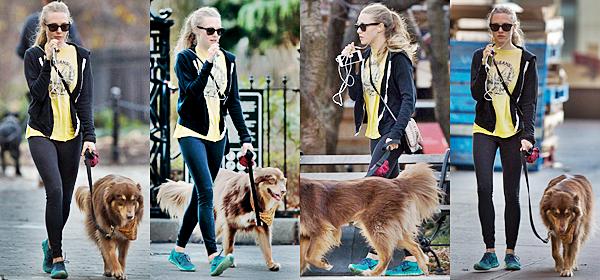 4 Décembre :  Amanda a été vu au parc, en train de téléphoner.