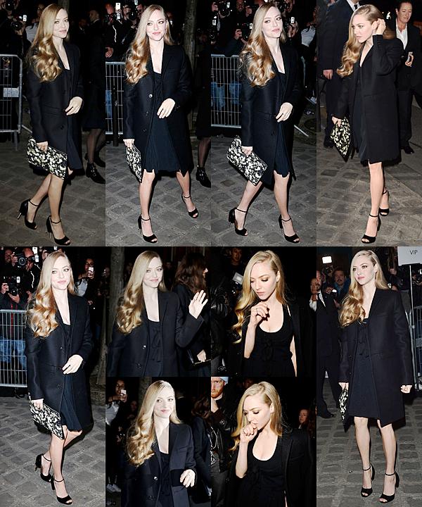 8 Mars 2015:  Amanda s'est rendue à la Fashion Week à Paris pour le défilé de Givenchy !