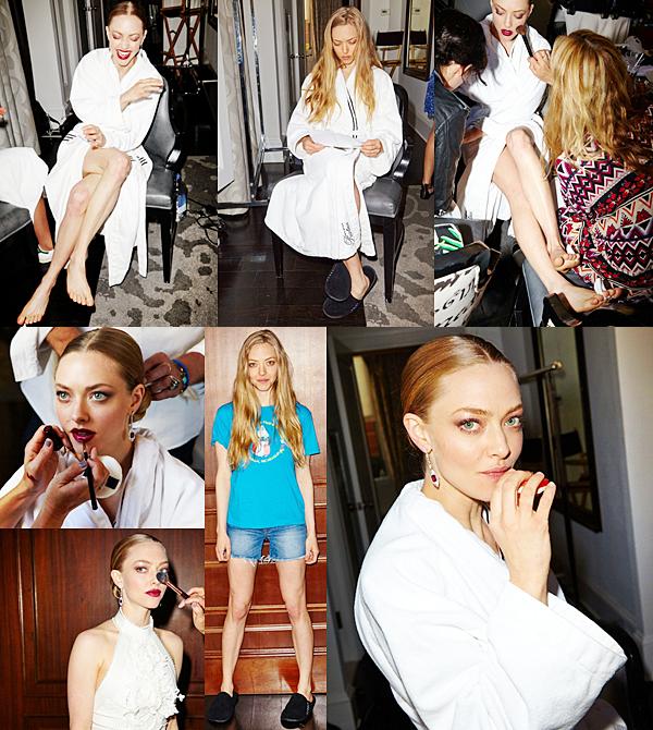 6 Mai 2015:  Juste avant la soirée du Met Ball Gala, Amanda est allée se préparer dans un hôtel. Des photos ont été prises lors de la préparation.