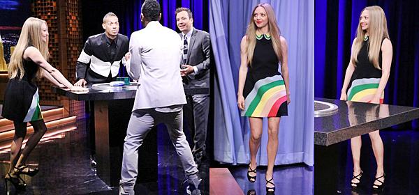5 Juin 2015:  Amanda était présente à l'émission The tonight show de Jimmy Fallon pour promouvoir son nouveau film Ted 2.
