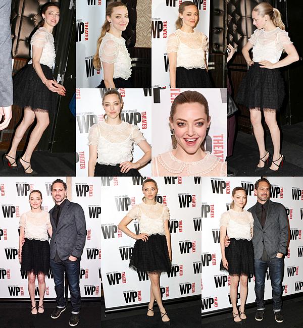 21 Février 2015:  Amanda a participé au Women Of Achievement Awards, en compagnie de son partenaire Thomas Sadoski.