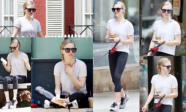 20 Juin 2015:  Amanda a été aperçue dans les rues de NY avec Finn.