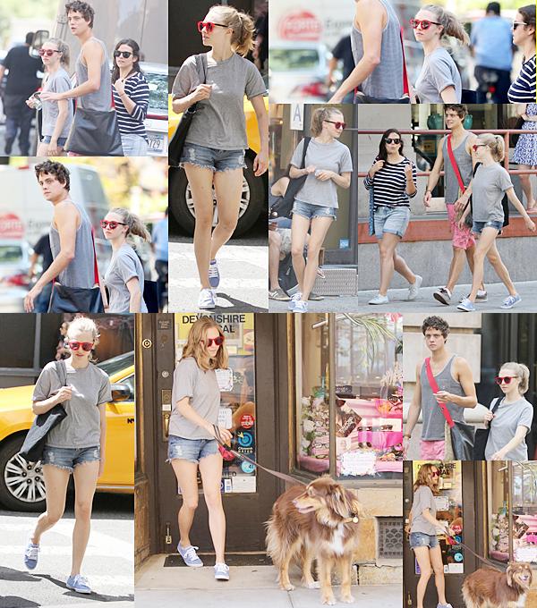 12 Août 2015:  Le matin Amanda est allée à la gym avec deux amis, puis dans l'après midi elle a été aperçue avec Finn;