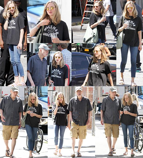 29 Août 2015:  Le matin Amanda est allée se promener avec Finn. Ensuite elle est allée déjeuner avec sa mère.