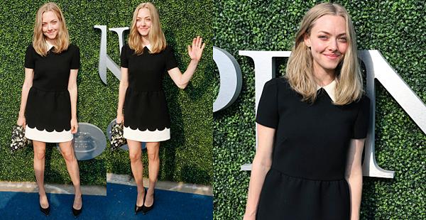 31 Août 2015:  Amanda  était présente à la 15è édition de USTA Opening Night Gala. Elle portait une robe signée Valentino et une pochette Givenchy.