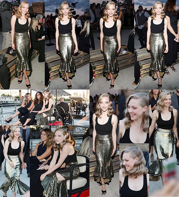 11 Septembre 2015 :  Amanda a assisté au défilé de Givenchy lors de la Fashion Week à New York. Ensuite elle est allée à l'after habillée d'un tee shirt Finn.  [VIDEO]