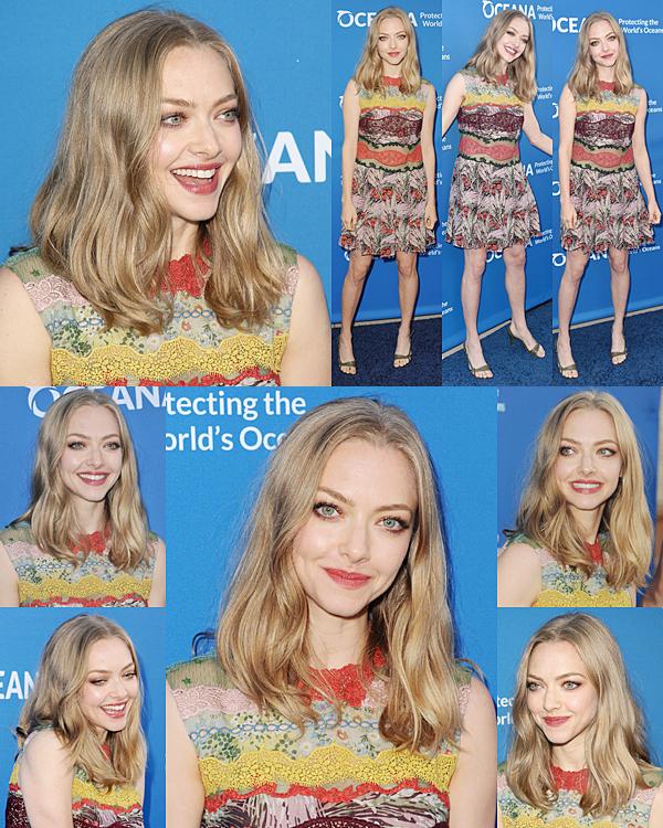 28 Septembre 2015 :  Amanda s'est rendue au concert de charité Our Oceans.