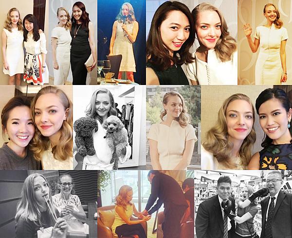 8 Octobre 2015 :  Amanda a été vu à l'aéroport de Tokyo. Elle va faire la promotion du nouveau produit de Clé de Beauté !