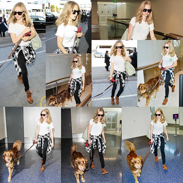 13 Octobre 2015 :  Amanda est sur le sol américain. Elle a été aperçue à l'aéroport de Los Angeles avec Finn !