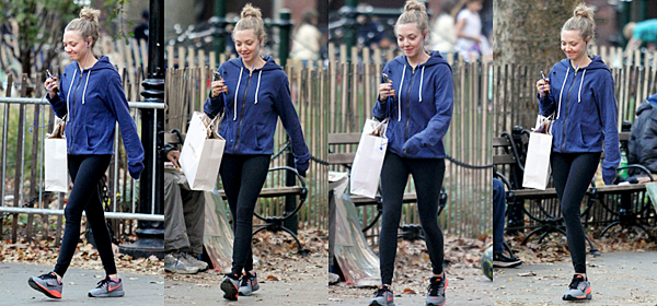 3 Novembre 2015:  Amanda a été vu quittant son cours de Gym.