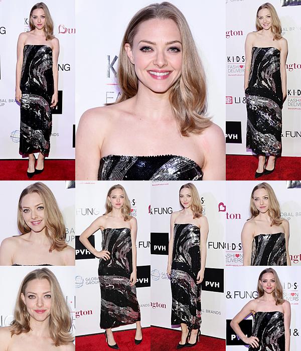 4 Novembre 2015 :  Amanda était présente à la cérémonie KIDS / Mode Rend
