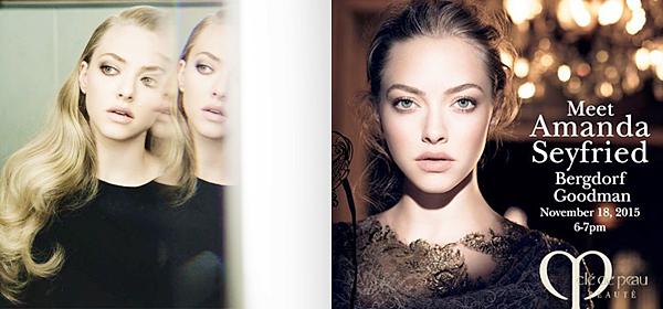 18 Novembre 2015:  Amanda est allée promouvoir la nouvelle boutique et spa « Evasion» « Clé de Peau Beauté ».