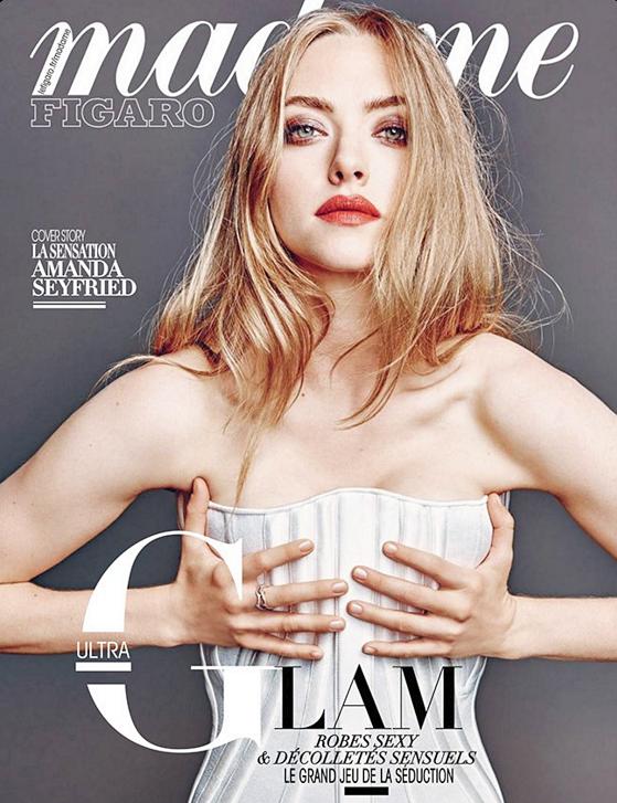 """19 Décembre 2015 :  Amanda fait la couverture du magazine français """"Madame Figaro"""" du mois de décembre ! Elle a été photographiée par Thomas Nutzl."""