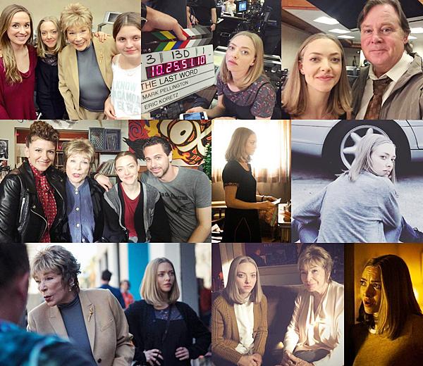 21 Février 2016 :  Amanda est actuellement sur le tournage de son nouveau film  : The Last Word !