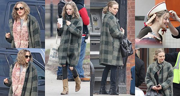 """Le 17 Mars 2016  • Aussitôt le tournage du film """"The Last Word"""" fini, Amanda a commencé le tournage de son nouveau film """"American Express"""" à Chicago !"""