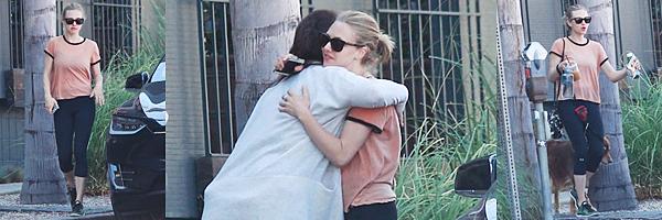 Le 13 Avril 2016  • Amanda a été vue avec un ami se baladant dans Los Angeles !