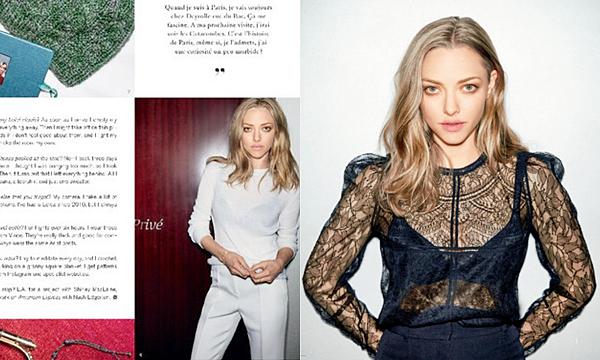 Magazine  • Plusieurs pages du magazine Madame Air France ont été consacrées à Amanda ! Deux photos inédites d'un shoot sont présentes.