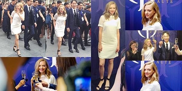 """16 et 17 Juin 2016 :  •Amanda est allée à Shanghai en Chine pour promouvoir les nouveaux produits cosmétiques de la collection automne/hiver de la marque """"Clé de peau"""". Elle a également assisté à plusieurs conférence de presse pour les magazines """"Harper Bazaar"""" et """"ELLE"""" !"""