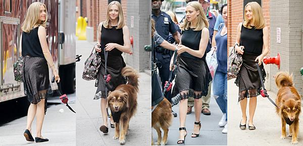 28 Juin 2016 :  Amanda a été vue sortant du studio de l'émission Today Show à New York !