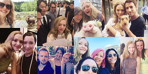 9 Juillet 2016 :  Amanda a été vue se baladant avec Finn et un ami !