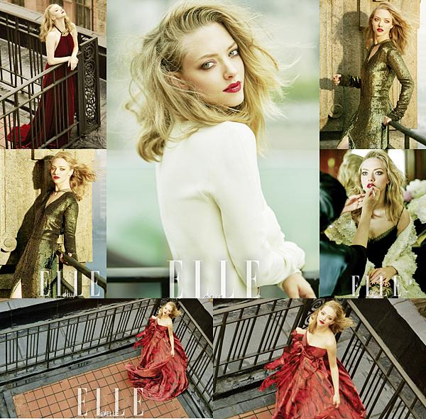 4 Août 2016 :  Amanda a été choisie pour faire la couverture du magazine ELLE Japonais du mois de septembre ! Ce nouveau shoot a été réalisé le mois dernier lors de son passage au Japon pour la promotion de Clé de Peau.