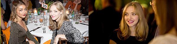 """28 Septembre 2016 :  Amanda était présente au dîner de l'événement """"No Kid Hungry""""."""
