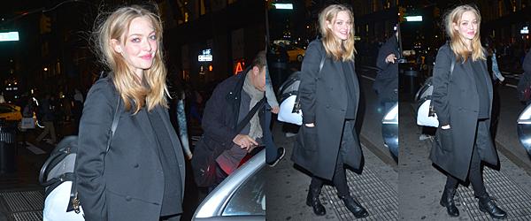 Le 1er Décembre 2016 • Amanda et Thomas ont été vu dans les rues de NY. Le soir, Amanda a été aperçus sortant d'un studio après un shoot pour ELLE.
